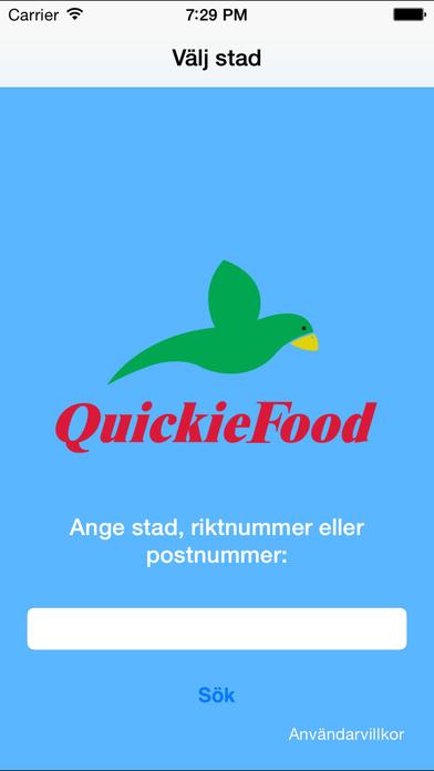 QuickieFood - iPhone